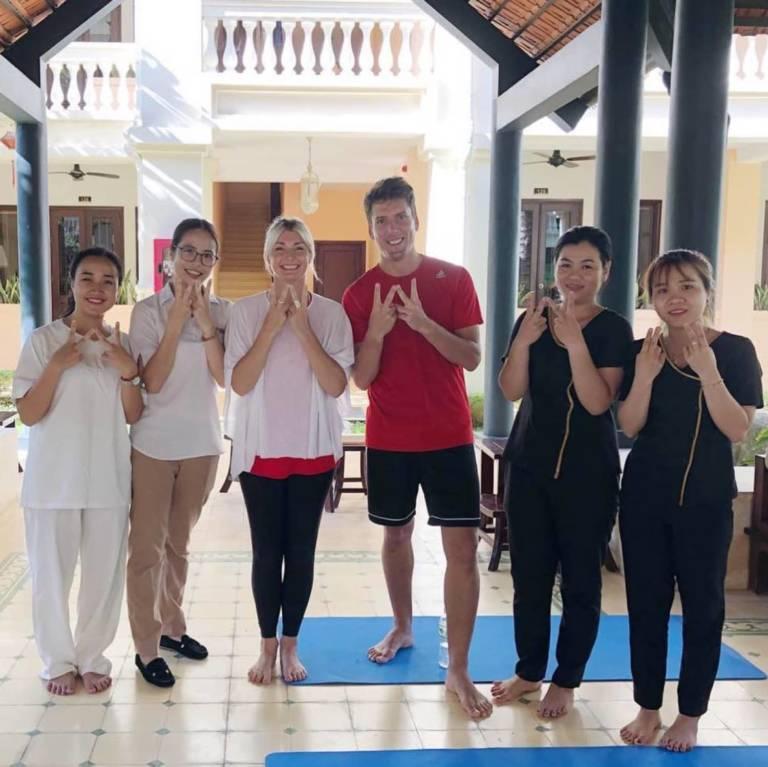 Anantara Spa BALI yoga Welfie