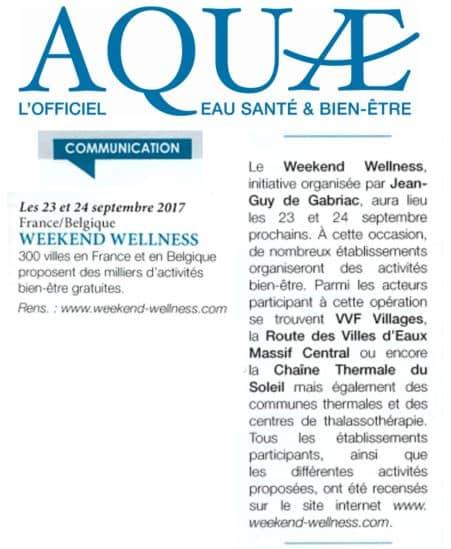 Aquae parutions WWellSept 2017