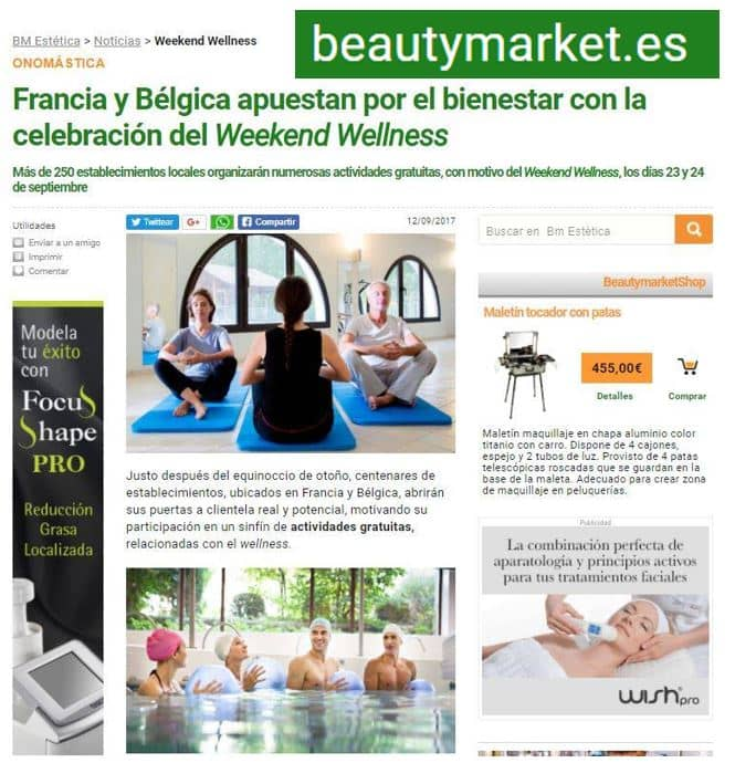Article Beautymarket ES Weekend Wellness Sept 2017