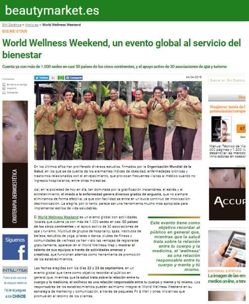 Article Beautymarket ES World Wellness Weekend April 2018