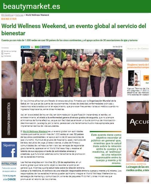 Article Beautymarket ES World Wellness Weekend April 2018