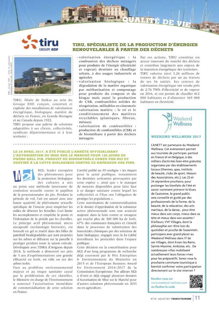 Article France Tourisme Juillet 2017 2