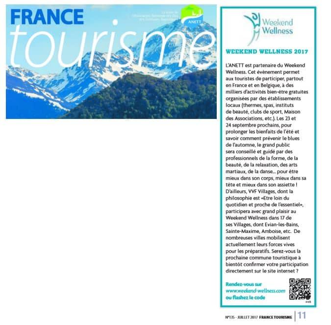 Article France Tourisme Juillet 2017