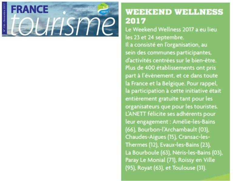 Article France Tourisme Sept 2017