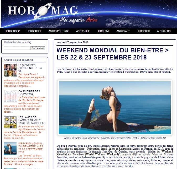 Article Horomag W 20180907