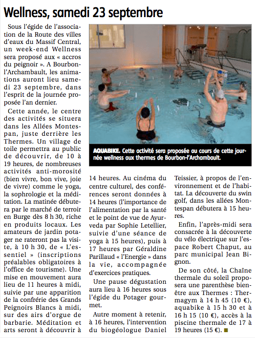 Article LA MONTAGNE WWell 20170918