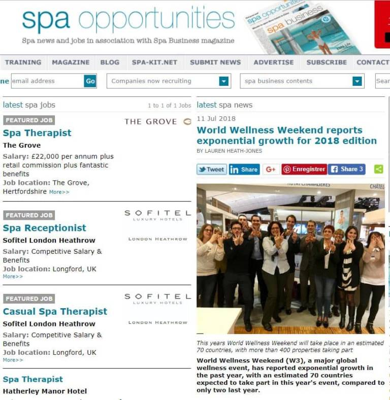 Article Spa Opportunities WWW 20180711