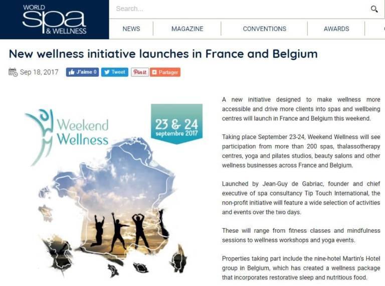 Article World Spa Wellness 20170918