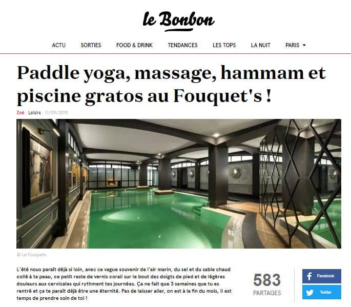 Article le Bonbon Fouquets 17 sept