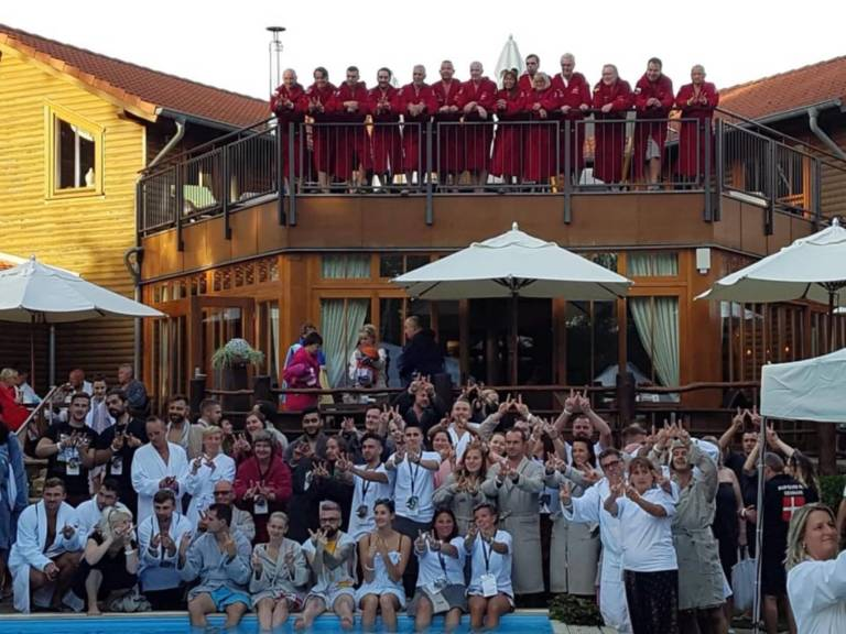 Aufguss WM Satama Sauna Resort GERMANY Welfie
