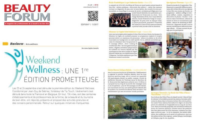 Beauty Forum Sept 2017 Weekend Wellness prometteur