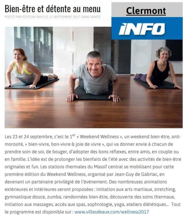 Clermont Info Sept 2017 Weekend Wellness