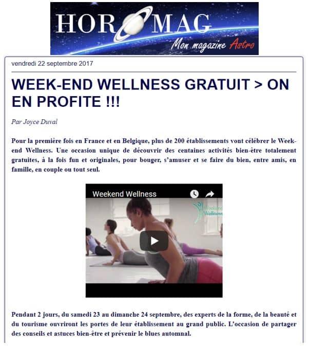 Horomag Sept 2017 Weekend Wellness