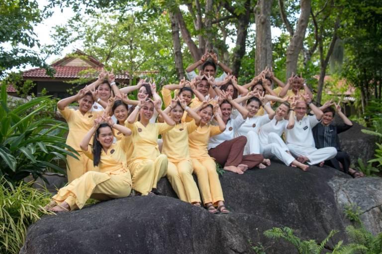 Kamalaya Koh Samui THAILAND group welfie