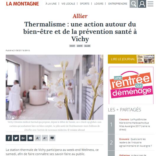 La Montagne Allier Sept 2017 Weekend Wellness