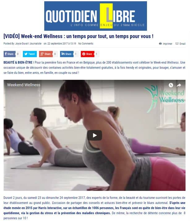 Le Quotidien Libre Sept 2017 Weekend Wellness