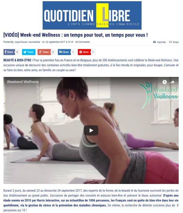 Le Quotidien Libre Sept 2017 Weekend Wellness