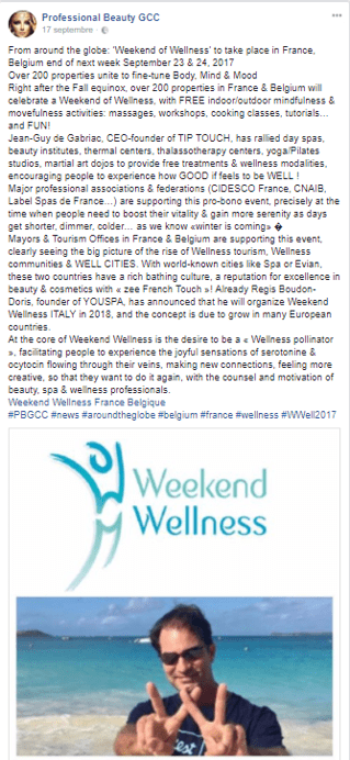 Professional Beauty GCC Weekend Wellness Sept 2017