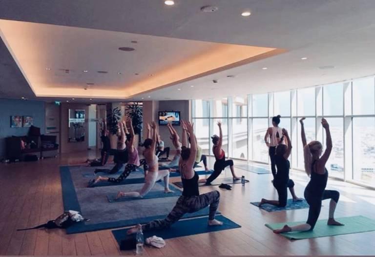 Sheraton MOE Rooftop Yoga DUBAI