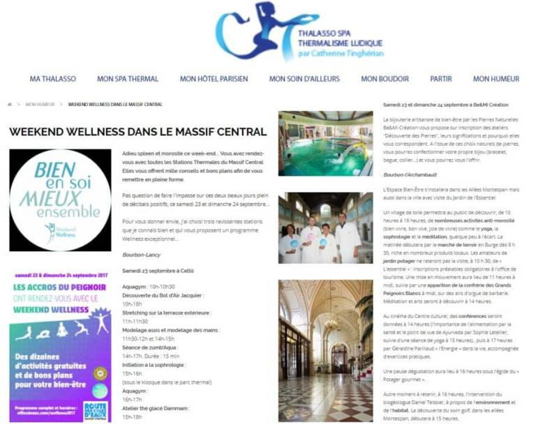 Thalasso Spa Thermalisme Sept 2017 Weekend Wellness